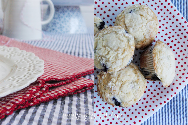 Blueberry Streusel Coffeecake Muffins with Jam Filling