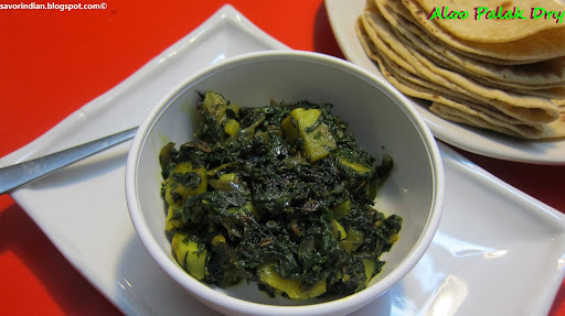 Aloo Palak Dry /Spinach Potato Dry Curry