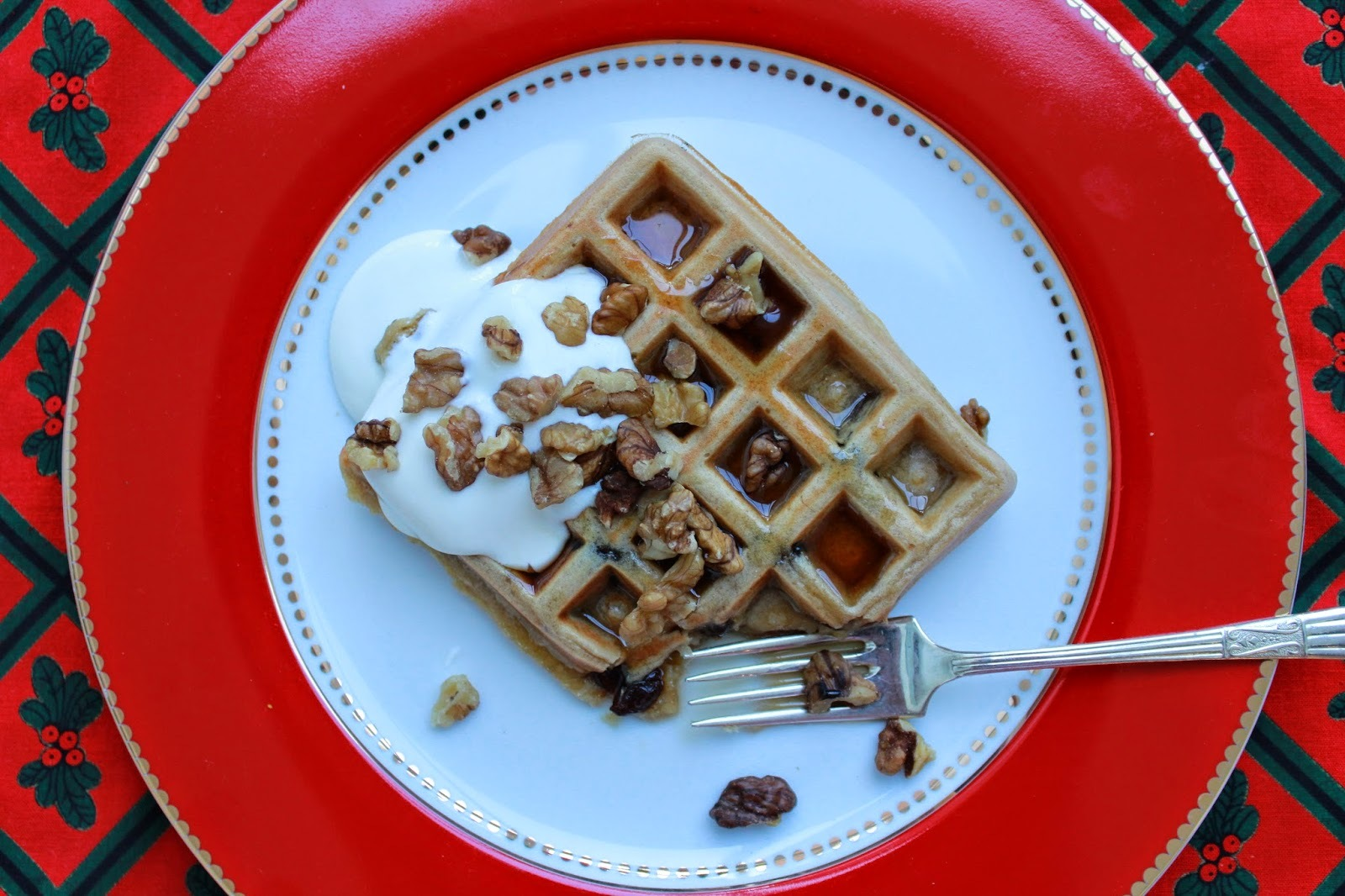 Mincemeat Waffles (a simple Christmas leftovers recipe)