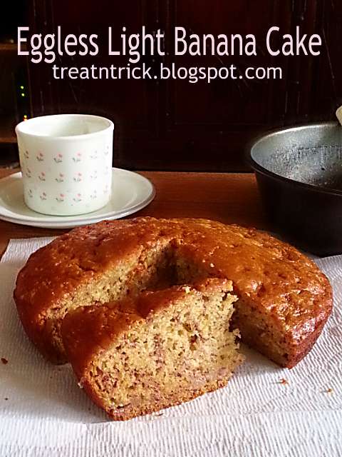 EGGLESS LIGHT BANANA CAKE