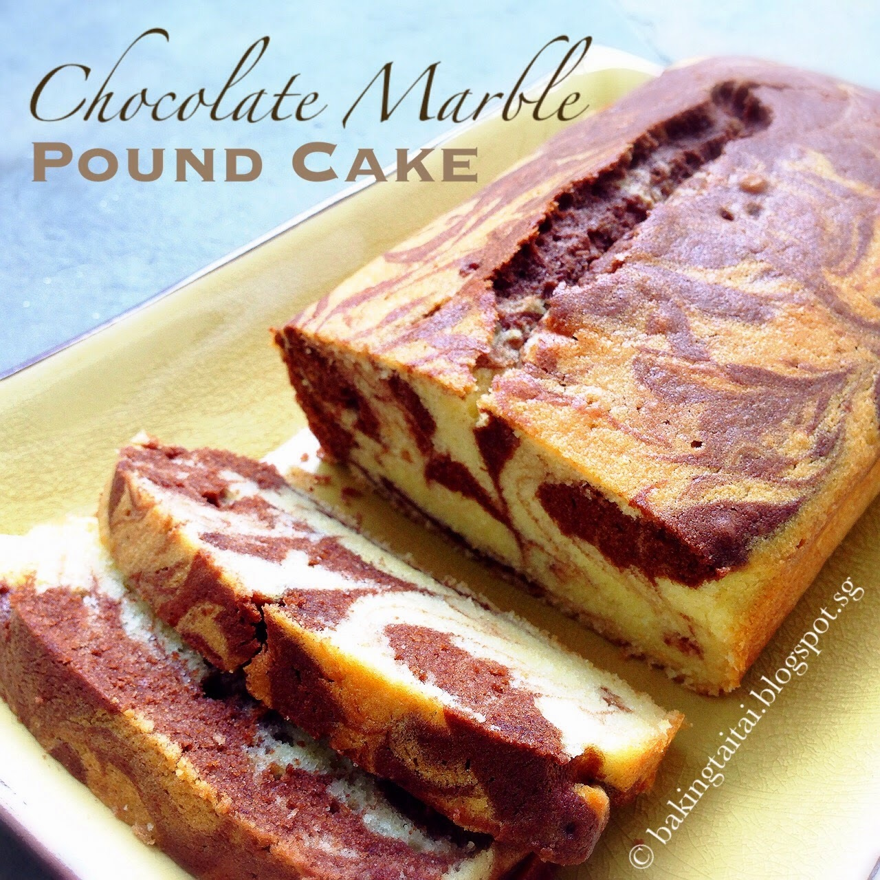 Chocolate Marble Pound Cake  巧克力大理石磅蛋糕 (中英食谱教程)