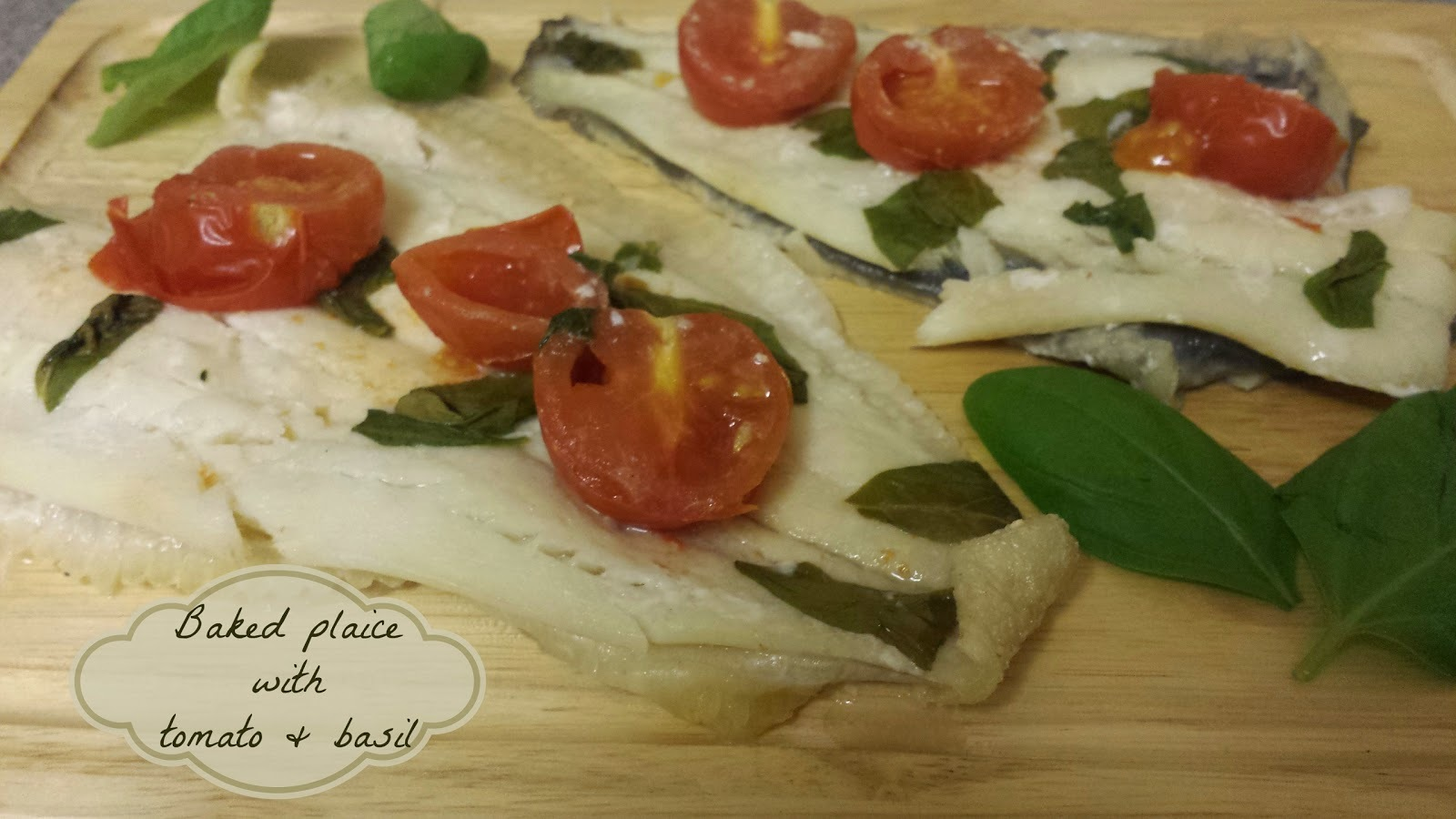 Recipe - Baked plaice with tomato & basil (#SlimmingWorld friendly)