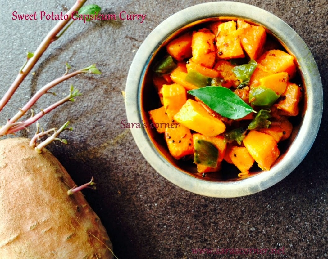 Sweet Potato Capsicum Curry | Sidedish