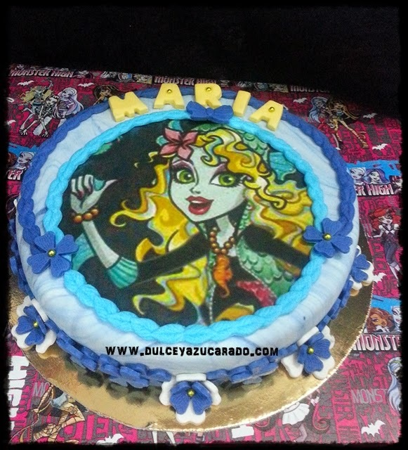 Tarta Lagoona Blue Monster High