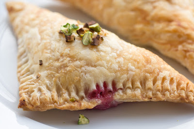 Raspberry-White Chocolate-Ricotta Turnover