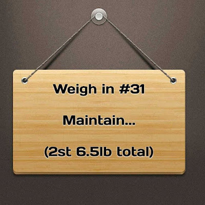 Slimming World weigh in #31 - the maintain but NSV one...