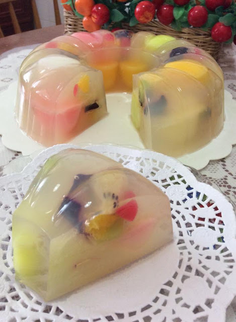 ~~  Easy Fruit Jelly Agar Agar  水果遮哩燕菜~~