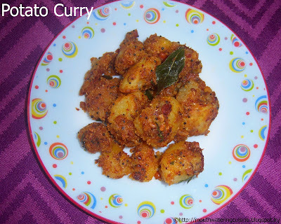 Potato Curry -- Aloo Curry with Curry Powder -- Potato Curry with Curry Powder for Rice