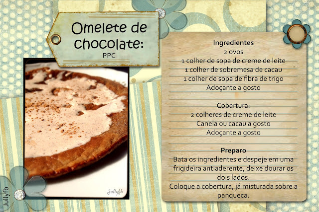 Omelete de Chocolate LowCarb: PPC