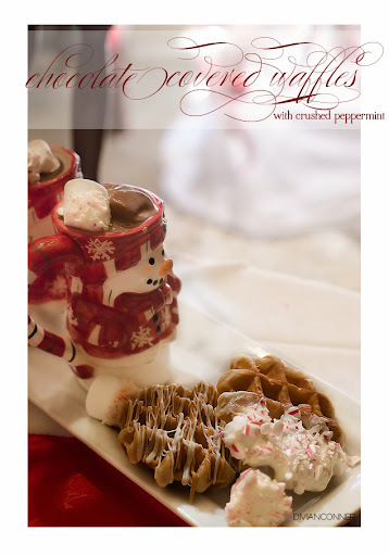 Easy Chocolate Covered Waffles