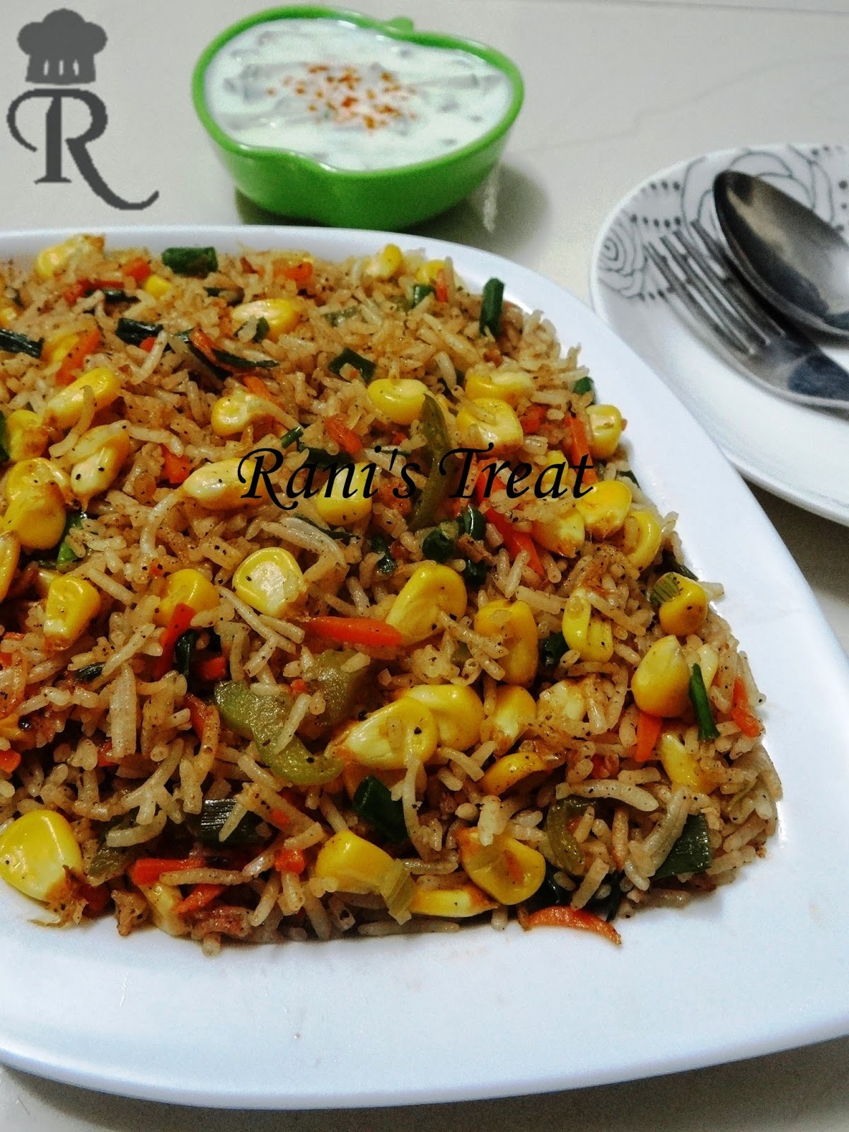 Corn Fried Rice | Sweet Corn Fried Rice | Corn Veg Fried Rice