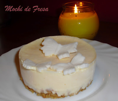 Aprovechando sobras... Mini Lemon Curd Cheesecake