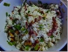 Arroz con Bacon y Hongos