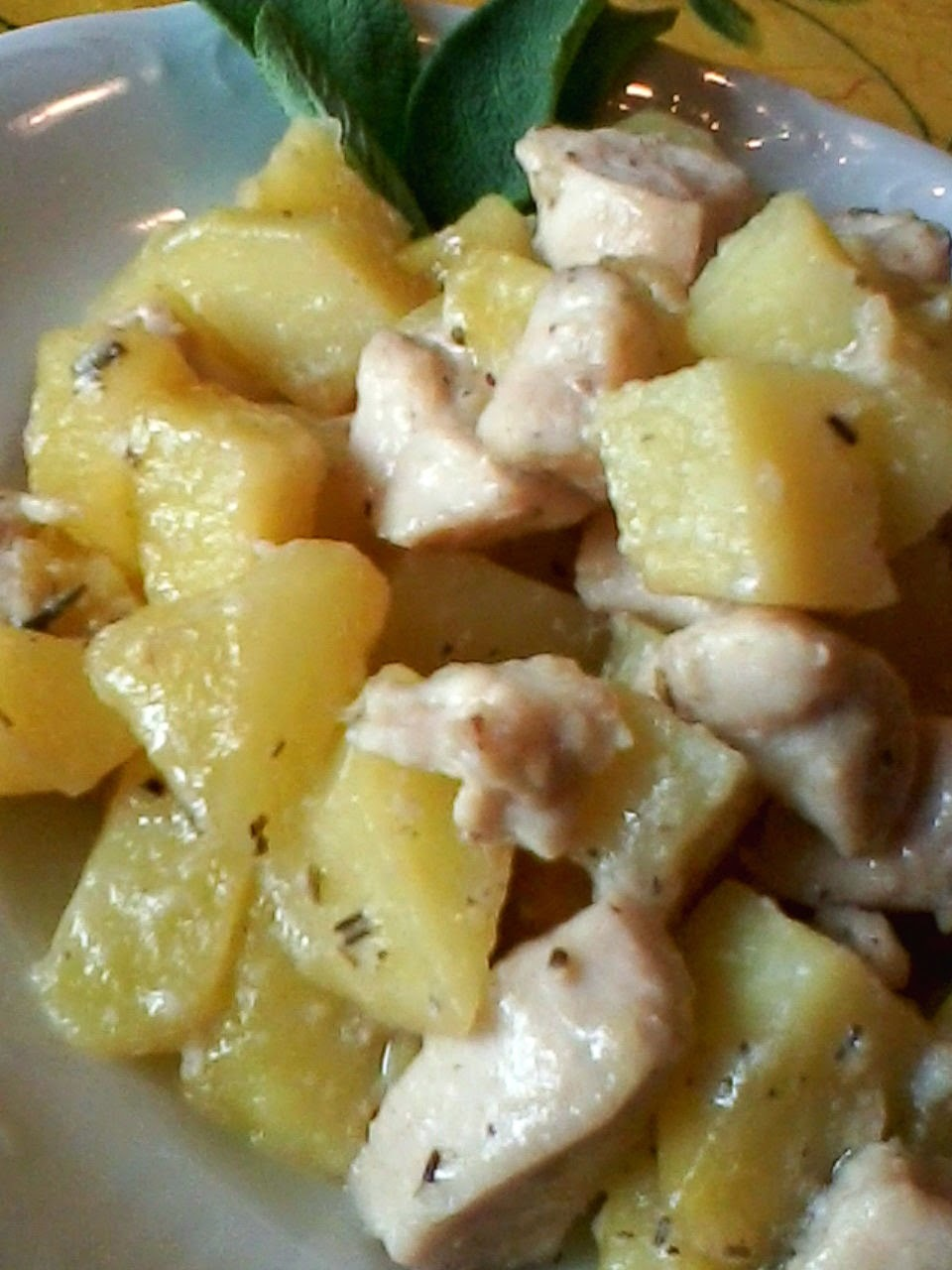 Padellata di pollo e patate (secondi)