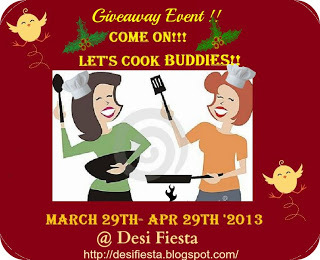 "Round Up and winner announcement for ""Come On - Lets Cook Buddies"""