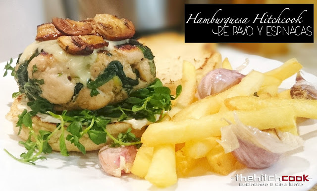 HAMBURGUESA HITCHCOOK DE PAVO Y ESPINACAS (Fast Healthy Food)