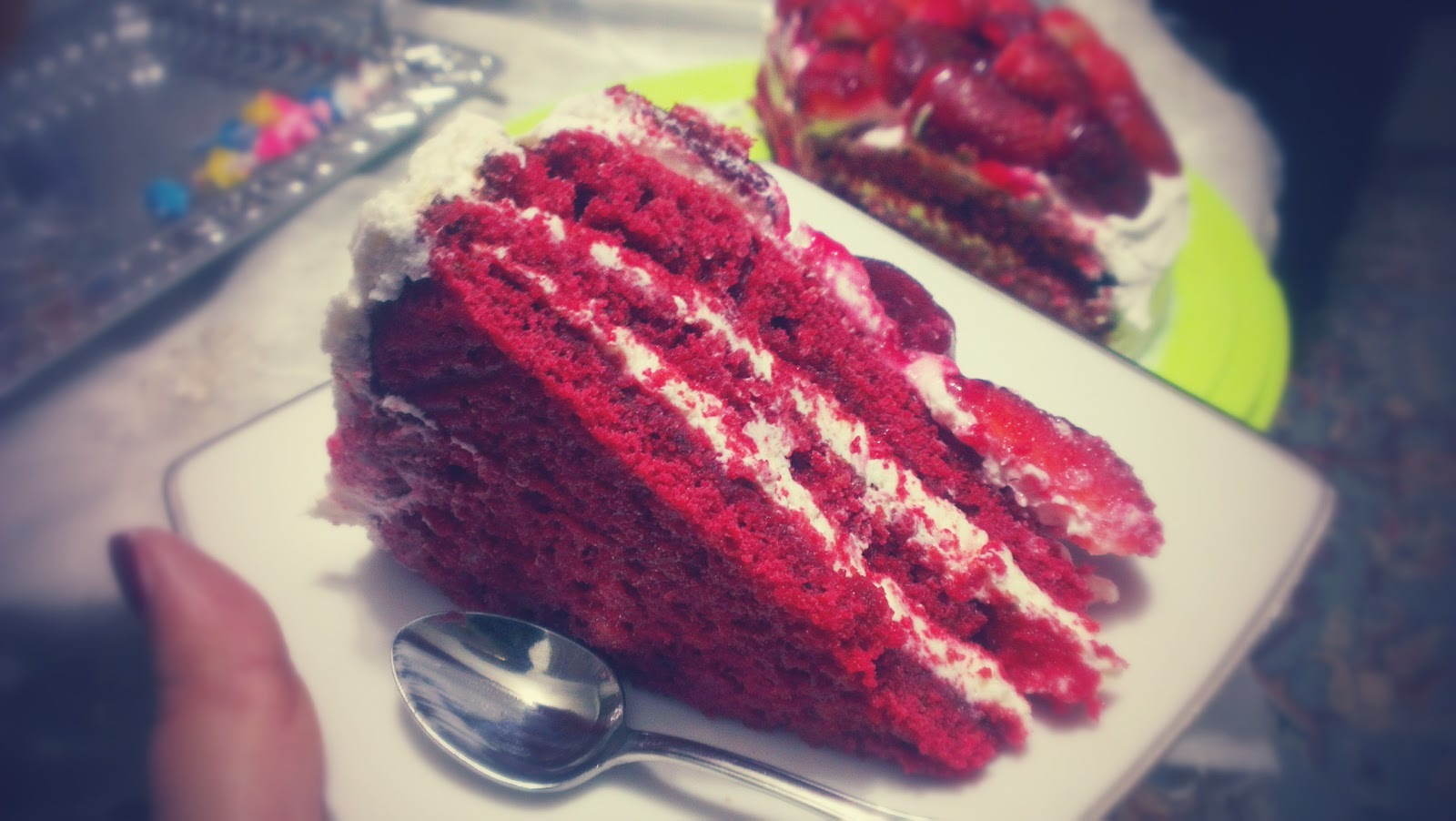 Gâteau rouge velours - Red velvet cake