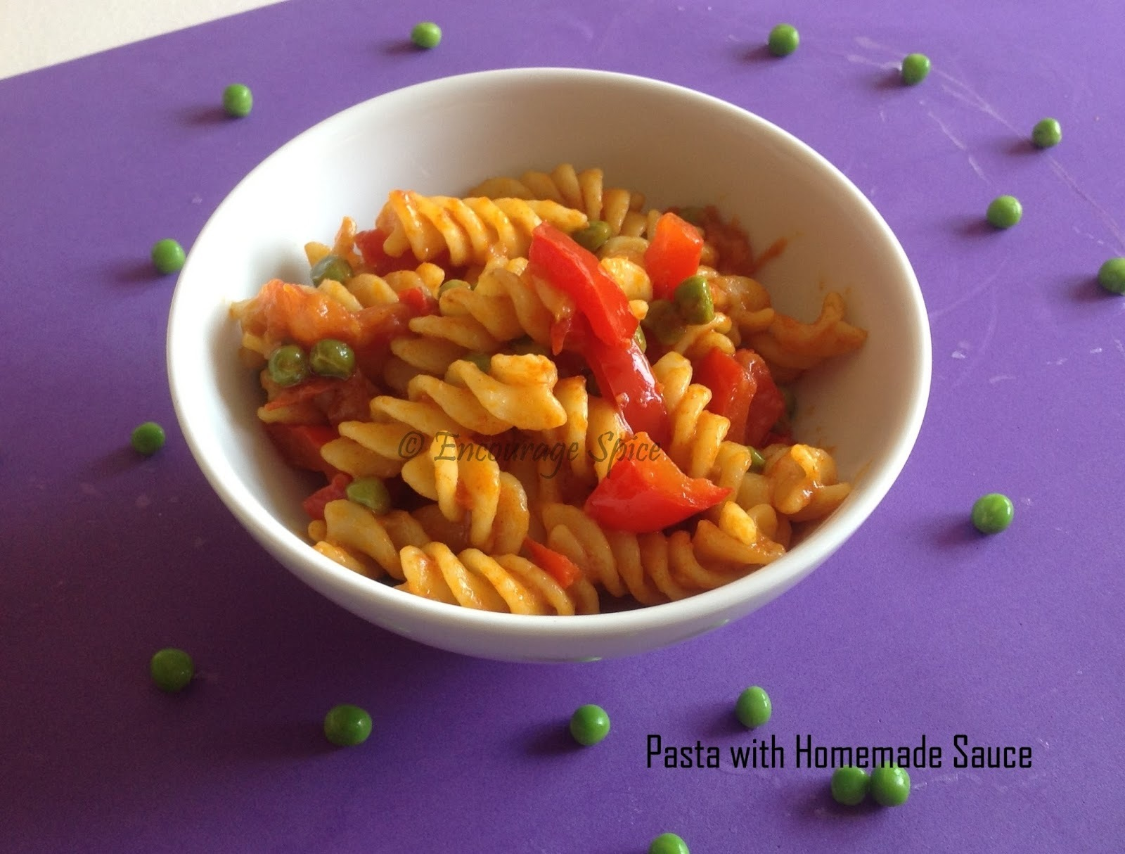 Pasta with Homemade sauce