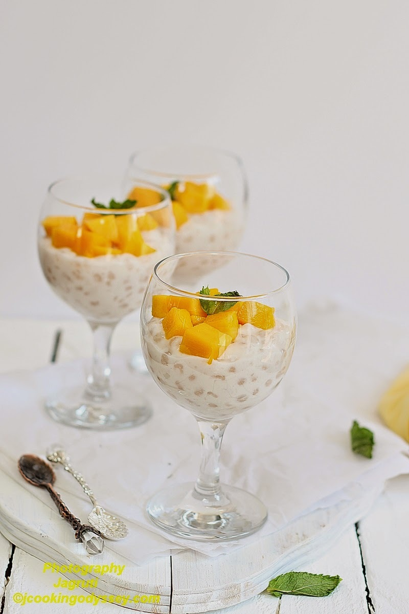Mango and Coconut Tapioca Pudding - Mango Mania #mother'sdaytreat #sweetandyummy #mangomania #thaidessert #