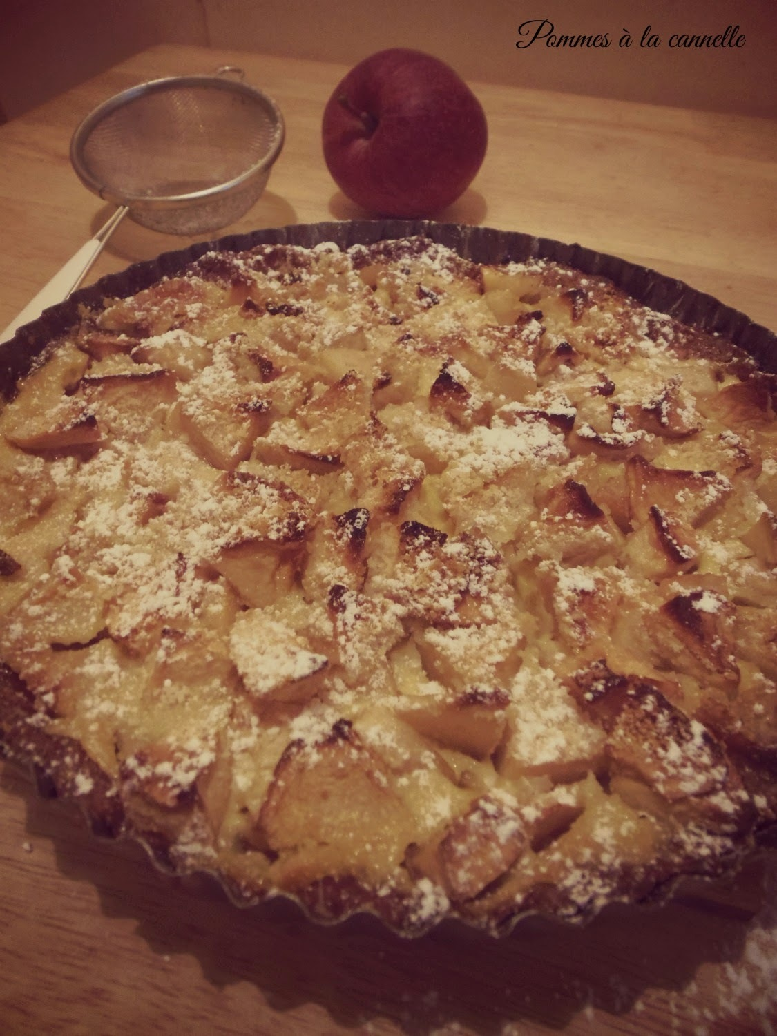 Tarta z jabłkami i Calvadosem/Tart with apples and Calvados