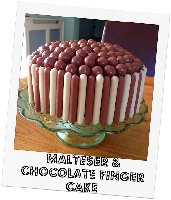 Malteser And Chocolate Finger Cake