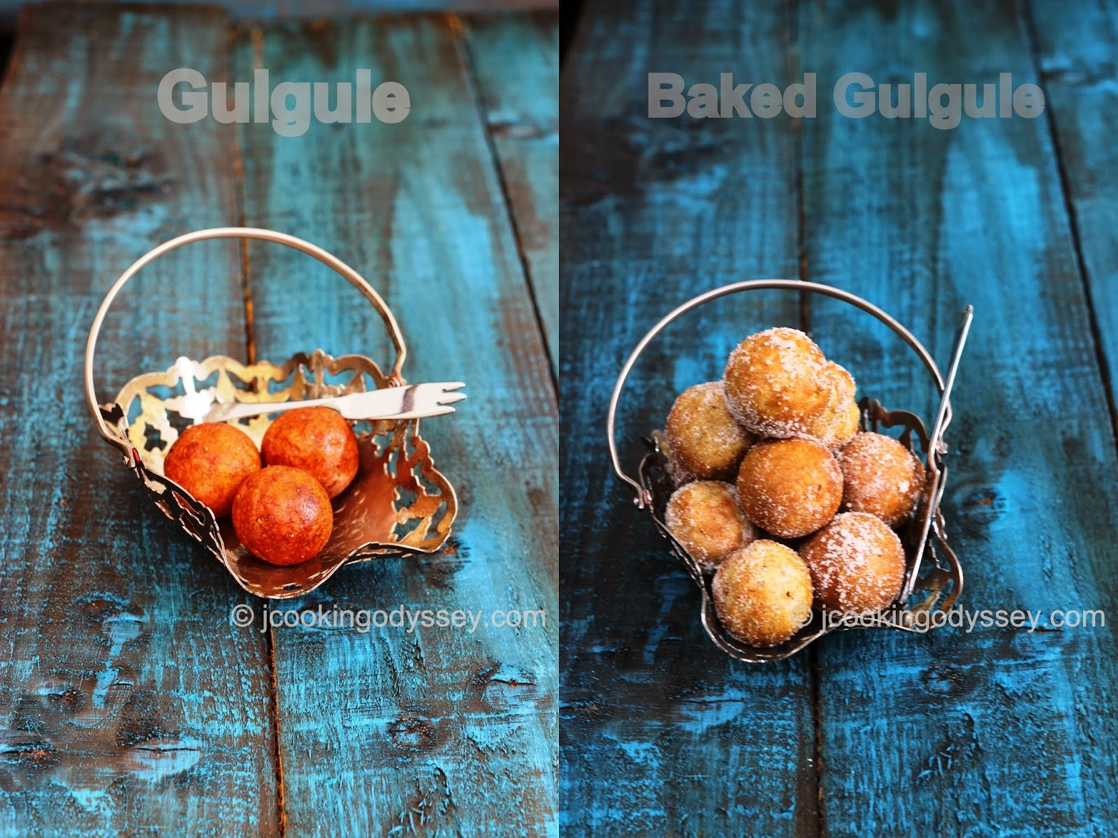 Traditional Gulgule - Baked Gulgule with Cinnamon - Wholemeal Jaggery Doughnuts with Cinnamon !