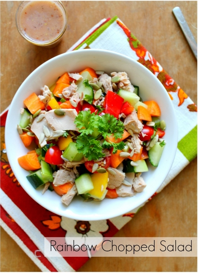 Rainbow Chopped Salad with Lip-Smacking Healthy Dressing