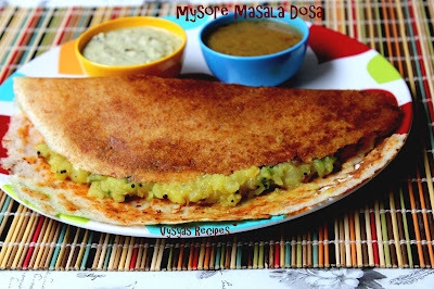 Mysore Masala Dosa Recipe  - Authentic Karnataka Recipes