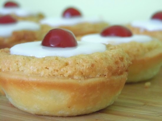 mini cherry bakewells.