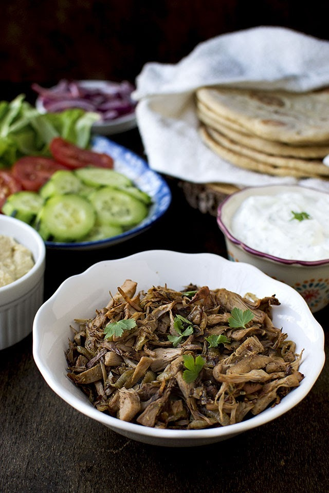 Vegetarian Gyros with Jackfruit