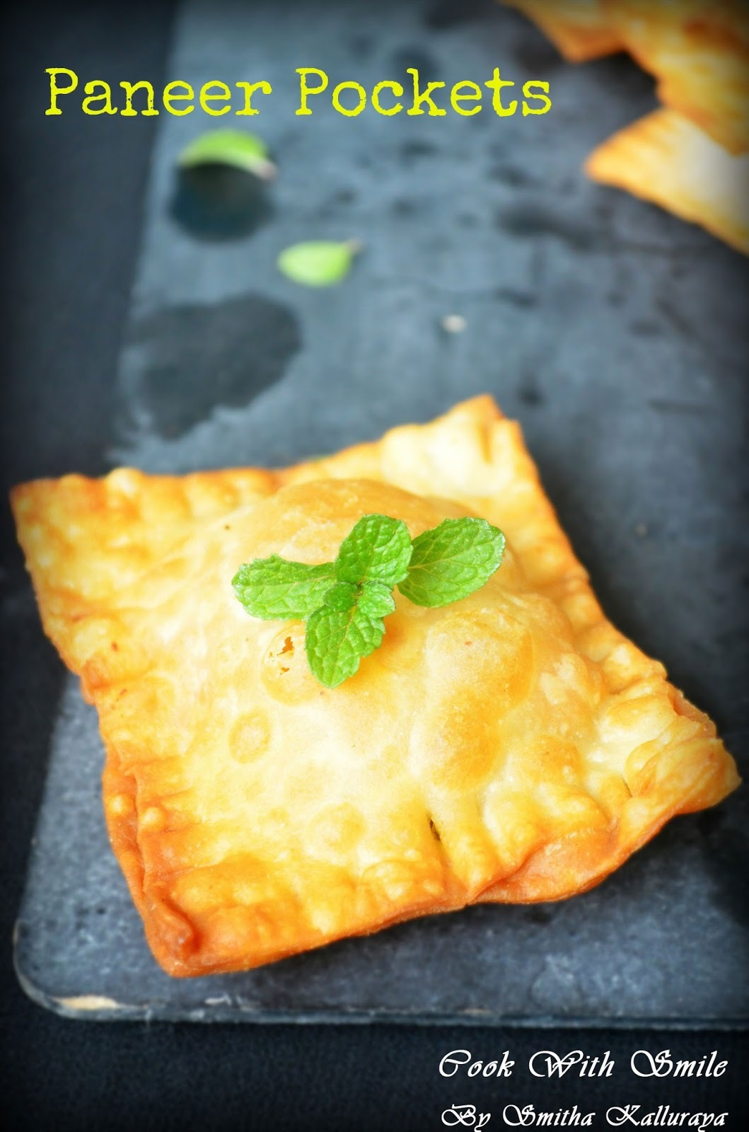 PANEER POCKETS / PANEER SQUARES - MOTHER'S RECIPE CONTEST