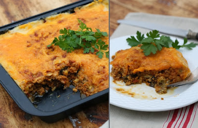 Low Carb High Protein moussaka med granuleret soya