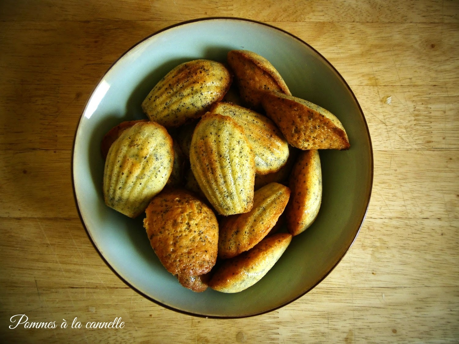 Cytrynowe madeleine z makiem/Lemon madeleines with poppy seeds