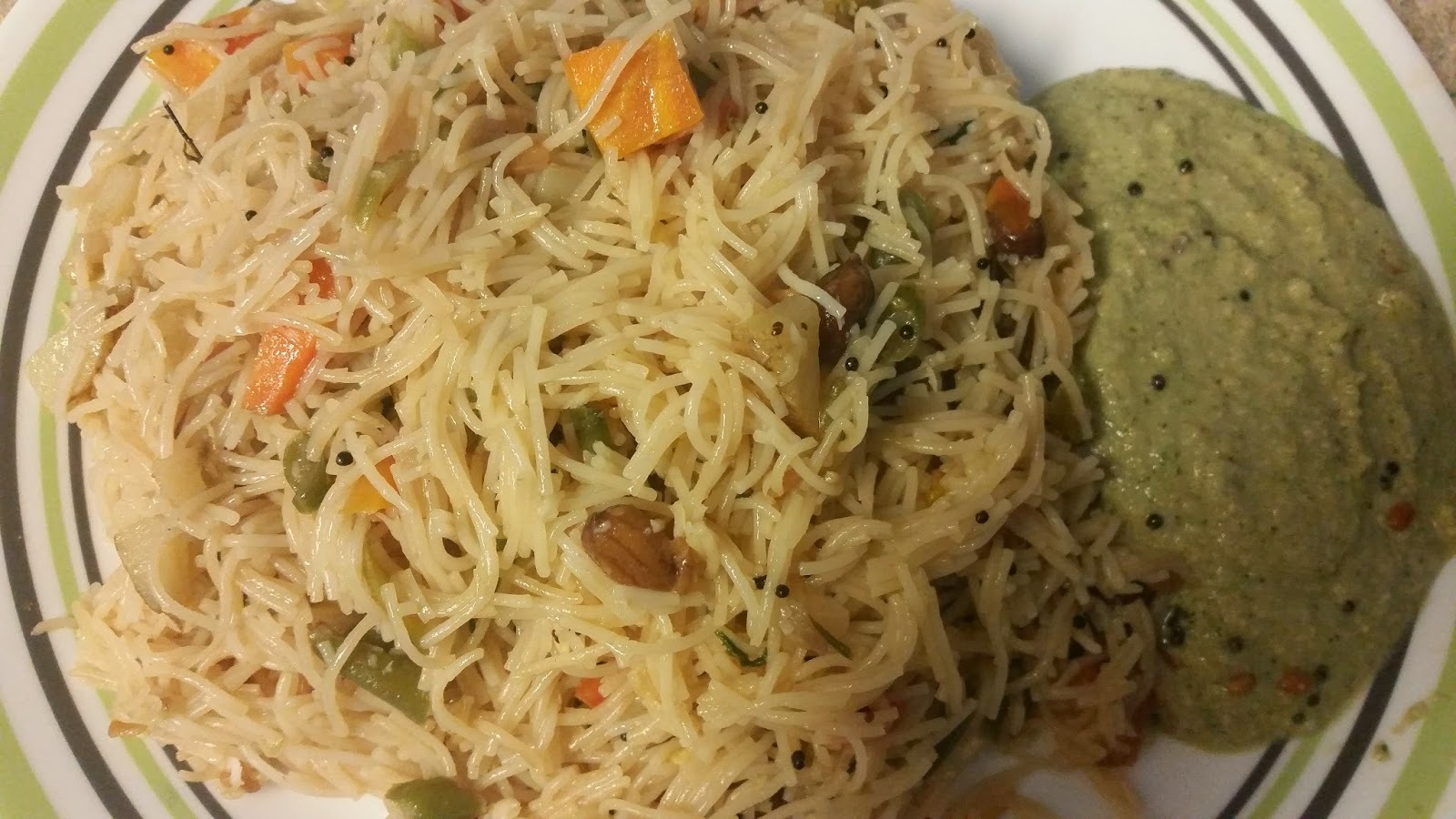 Tasty Vegetable Vermicelli Upma