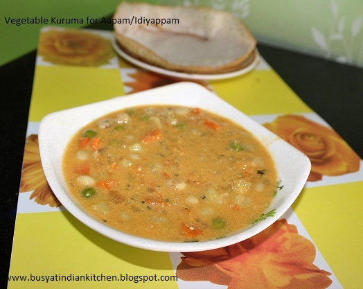 Vegetable Kuruma For Aapam/ Idiyappam