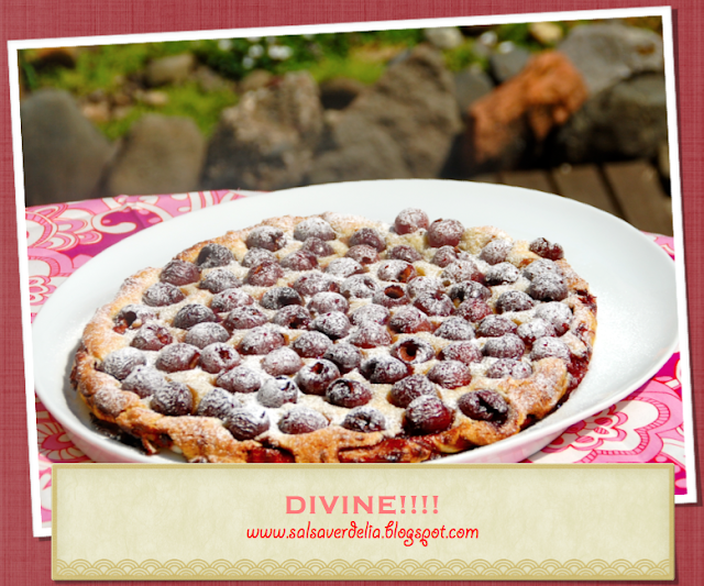 Puff pastry cherry tart with amaretto / Tarte de cerejas com licor de amaretto!