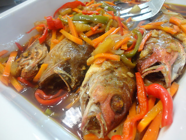 FISH ESCABECHE with a hint of PINEAPPLE