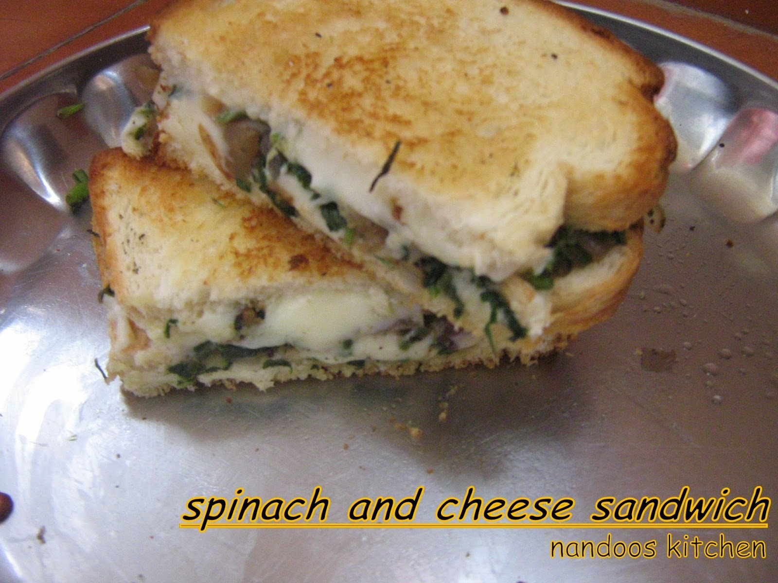 Cheese and spinach sandwich