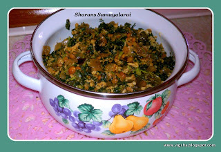Thandan Keerai Poriyal / Spinach Stir-fry