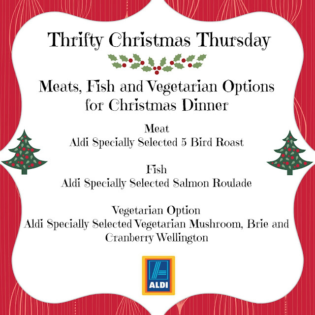 Thrifty Christmas Thursday with Aldi - Meat, Fish and Vegetarian Options for Christmas Dinner