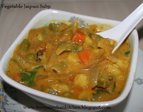 Vegetable Jaipuri Subji