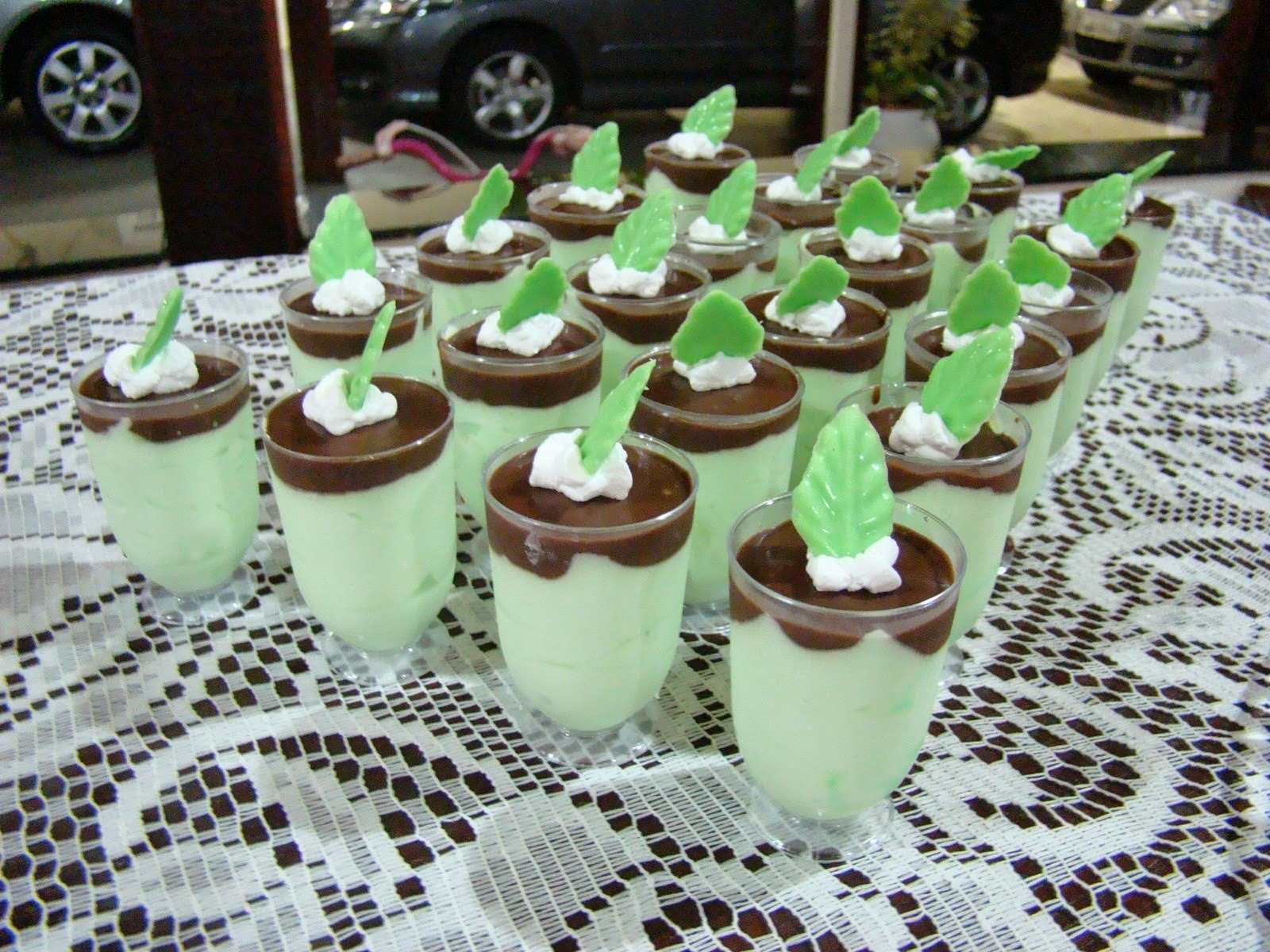 Mousse de Menta com Chocolate