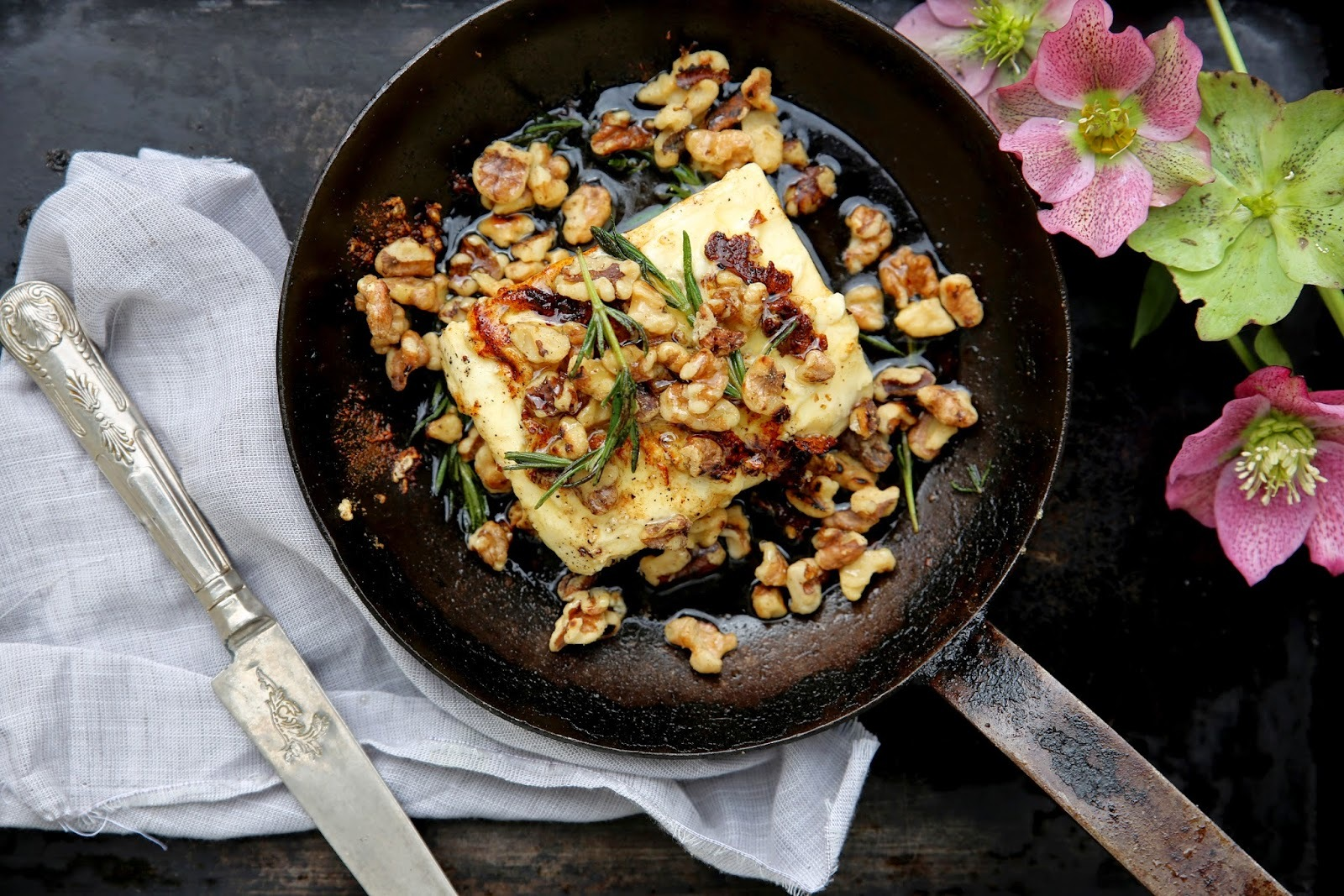 BAKED FETA WITH WALNUTS, ROSEMARY & HONEY