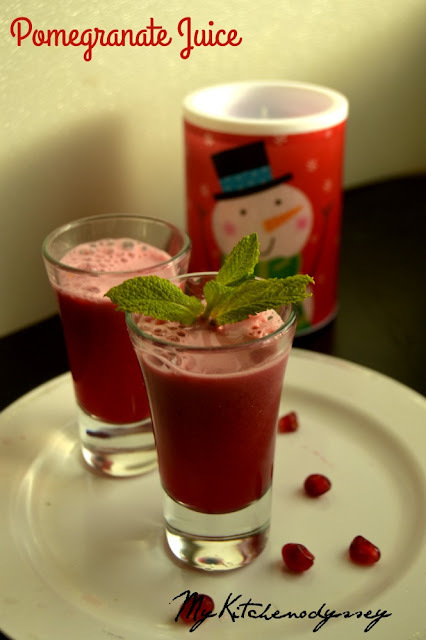 Pomegranate Juice Recipe | Christmas Recipes | Healthy Juice