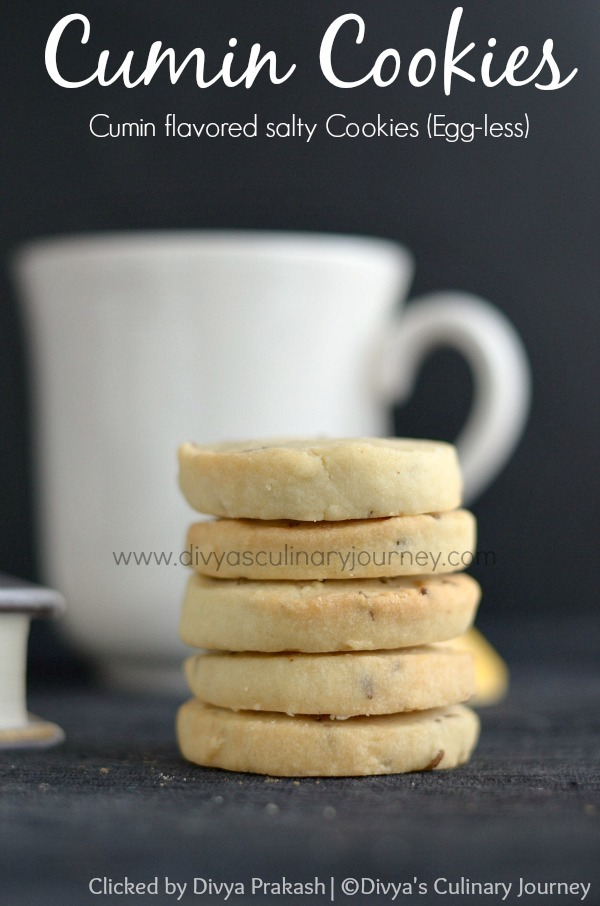 Cumin Cookies (Egg-less) | Jeera Biscuits
