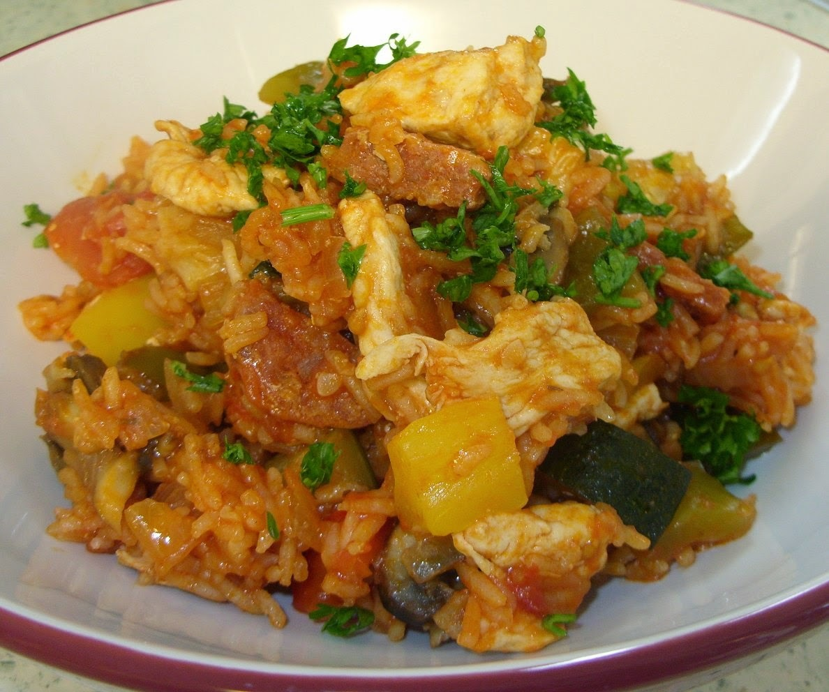 Chicken and chorizo Jambalaya