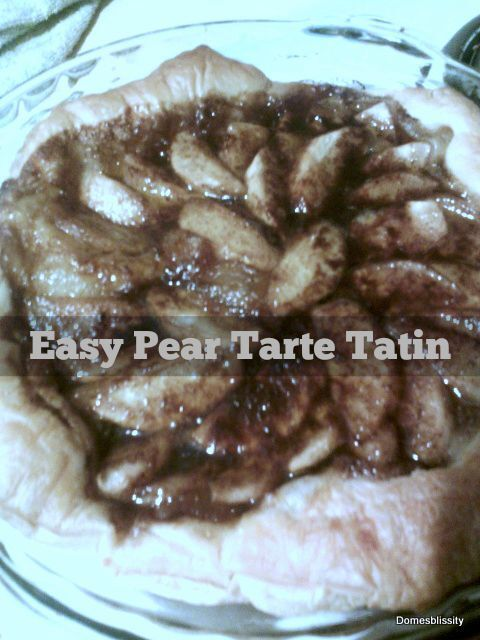 Easy Pear Tarte Tatin