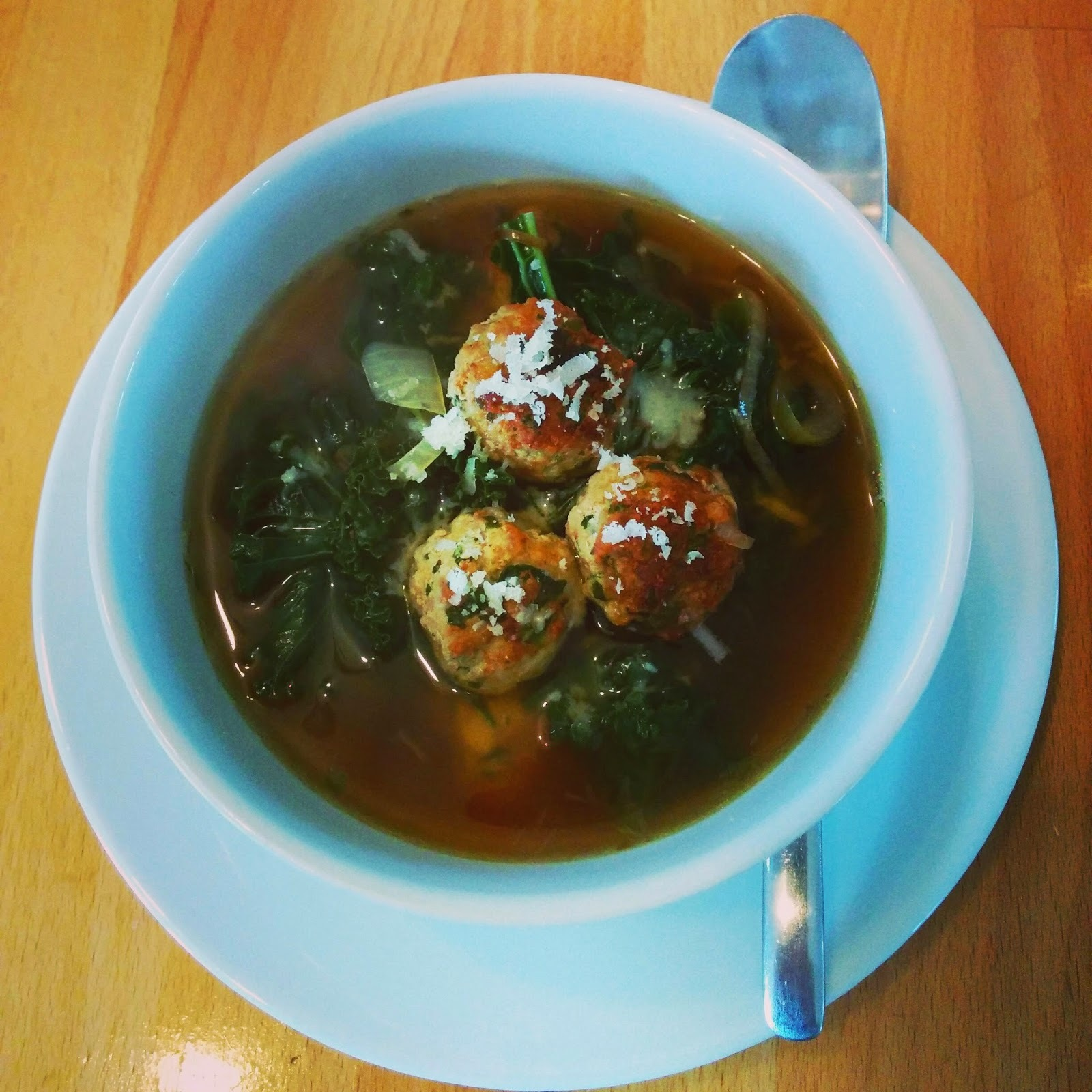 Curly KALE and MEATBALL Soup