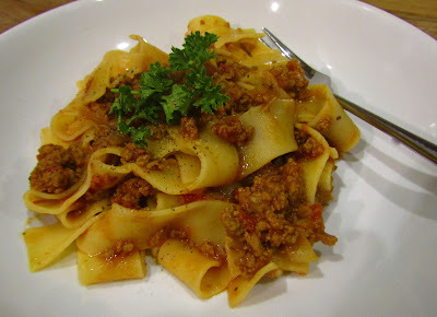 Lamb Ragu with Papperdelle Pasta