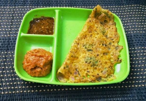 Maize/Corn Flour Dosa (Chola Dosai)